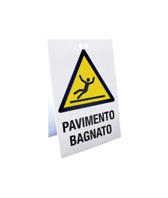 Cavalletto segnaletico bifacciale da pavimento - Cartello pavimento bagnato ...